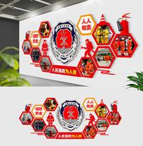 部队消防队照片风采文化墙