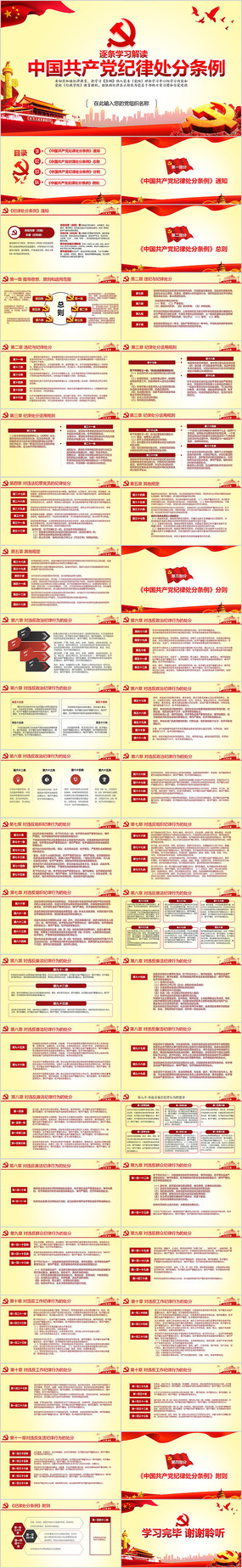 共产党纪律处分条例党课PPT pptx