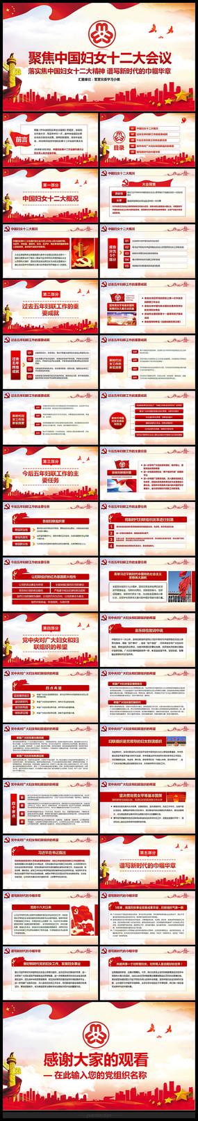 解读中国妇女十二大会议PPT pptx