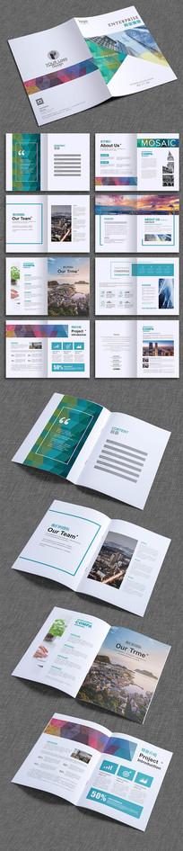 时尚大气科技企业画册设计模板 AI