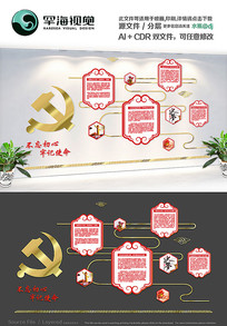 党员文化活动室党建背景文化墙