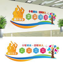 校园文化文化墙