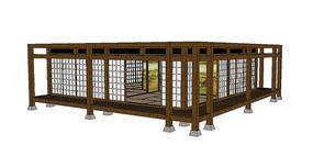 传统日式建筑场景