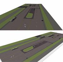 公路道路景观SU模型