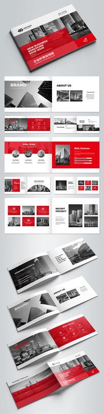 红色企业形象宣传册设计模板