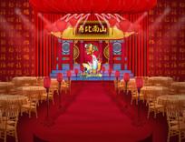 红色喜庆寿宴效果图