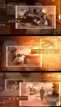 历史事件复古老照片回忆视频