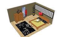日式卧室场景