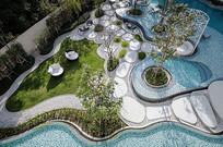 泳池庭院景观意向图
