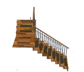 l型日式木楼梯
