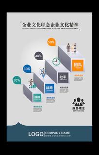 创意企业文化标语挂图