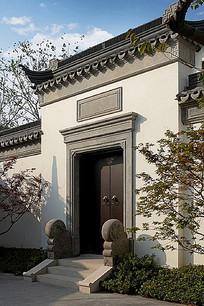 传统中式住宅大门