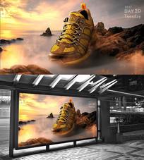 登山运动鞋海报