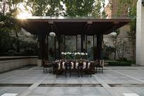 户外休闲传统中式餐桌椅