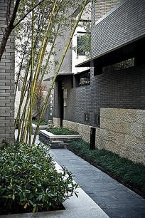 建筑外立面墙面砖石拼接景观 JPG