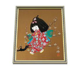 日式小女孩装饰画