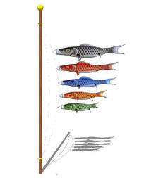 日式鱼风筝