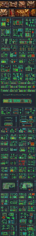 商务娱乐会所装修CAD图纸