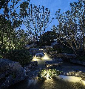 庭院水景瀑布绿化景观