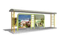 现代公交站台 模型