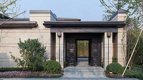 小区住宅别墅中式大门