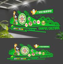 原创绿色清新幼儿园文化墙
