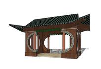 中式传统凉亭