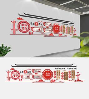 中式古典社区文化墙模板