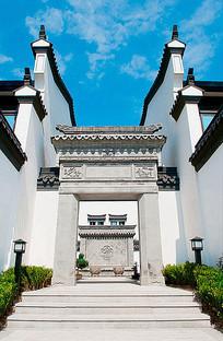 中式建筑门头雕刻纹样立柱 JPG
