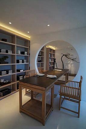 中式书房传统桌椅