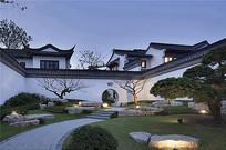 中式庭院绿化景观小品