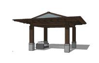 中式亭子设计模型