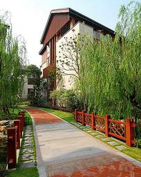中式小区道路景观