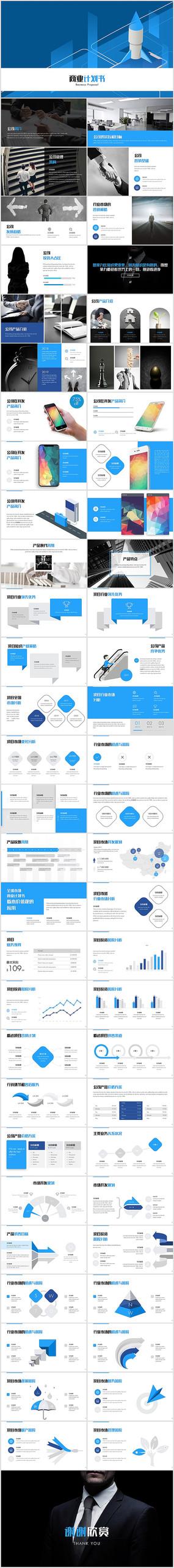 创业融资商业计划书PPT模板