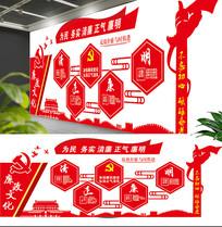 大气红色党建文化墙