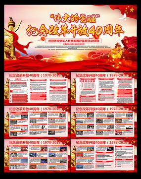 改革开放40周年历程宣传栏