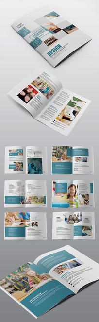 简约培训教育机构宣传画册