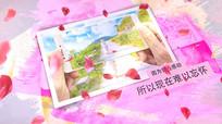 浪漫花瓣相册AE模板