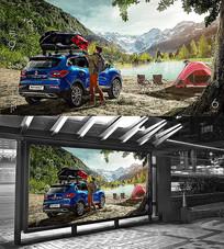 旅行汽车广告海报