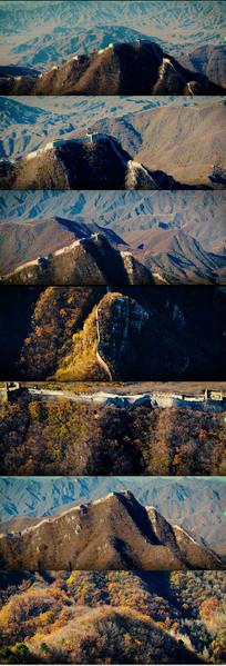 秋天中国长城风景实拍视频
