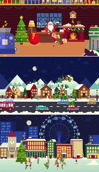 圣诞节新年视频片头ae模板