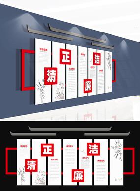 中式廉政文化墙廉政背景模板 AI