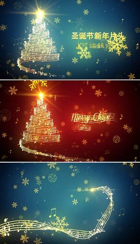 最新圣诞节新年祝福片头模板