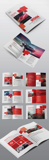 红色简约机械汽车企业宣传画册