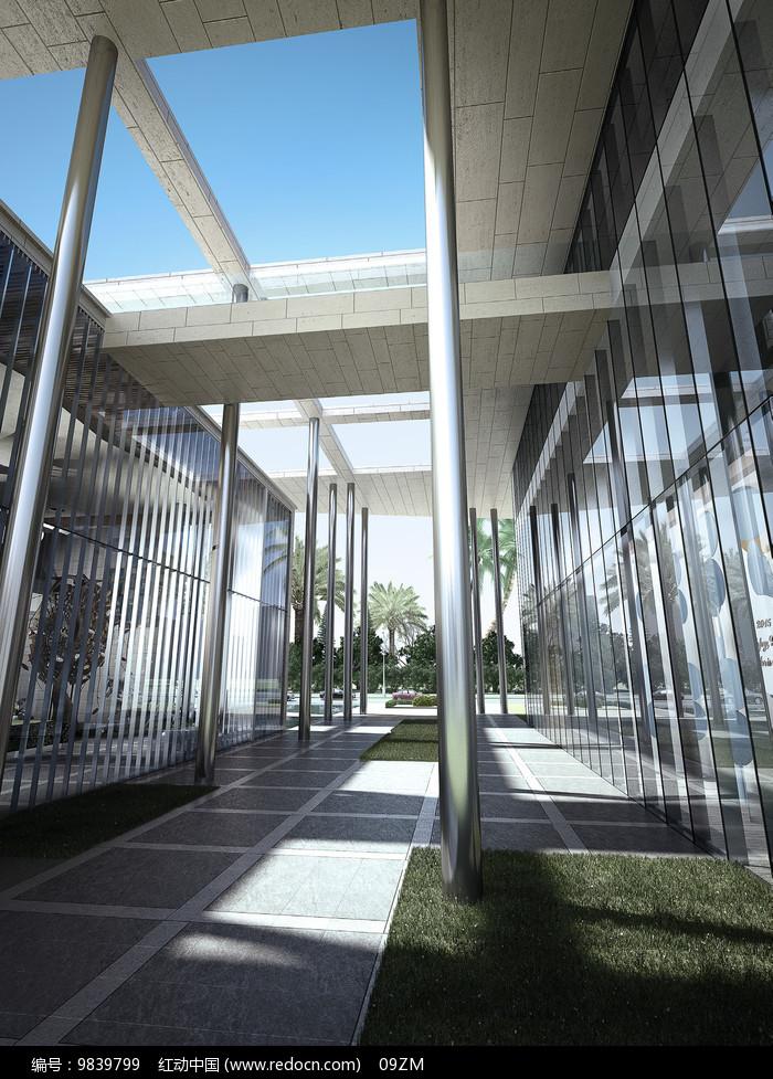 架空建筑_建筑架空绿化景观