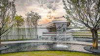 现代住宅区水景设计