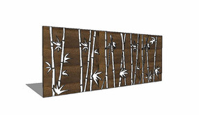 竹子元素景墙