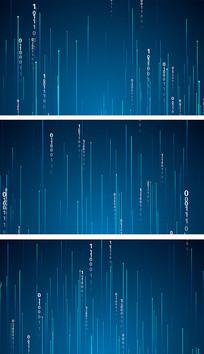 4K超清二进制数据流科技背景