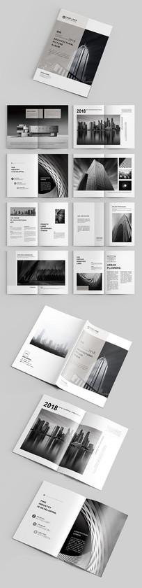 黑白灰简约大气建筑企业画册