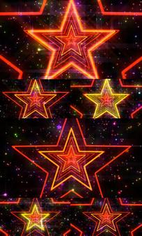 酷炫五角星动感LED视频背景